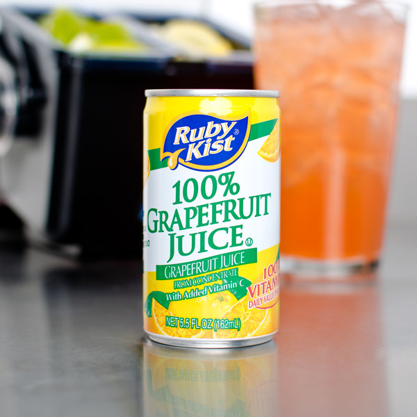 Ruby Kist 5.5 fl. oz. Grapefruit Juice - 48/Case Main Image 5