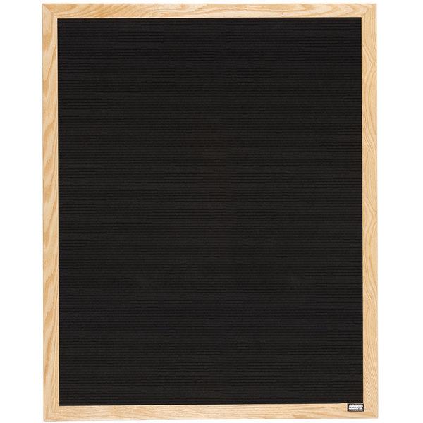 aarco aofd3630 36 x 30 black felt open face vertical indoor