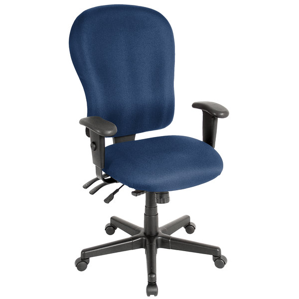 Eurotech FM4080-AT30 4x4 XL Series Navy Fabric Mid Back Swivel Office Chair Main Image 1