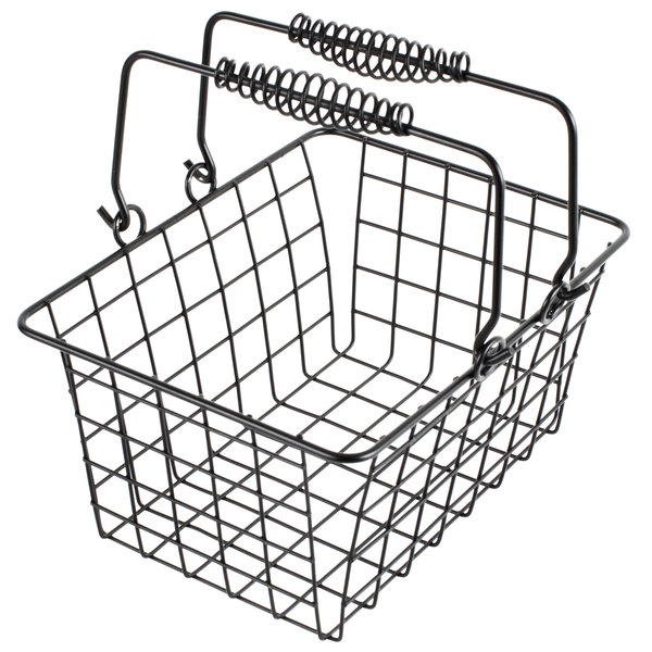 Choice Black Tabletop Market Basket