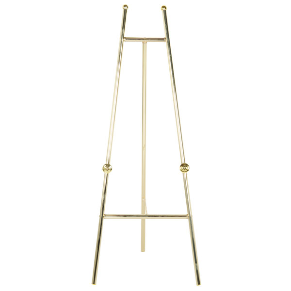 "24"" x 60"" Brass-Colored Metal Easel EBS-060"
