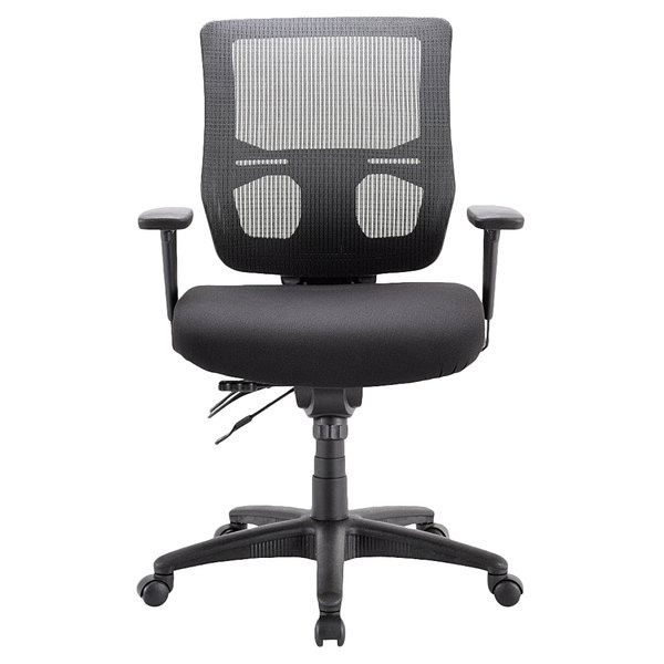 Eurotech MFST5455 Apollo II Series Black Mid Back Multi-Function Swivel Office Chair Main Image 1