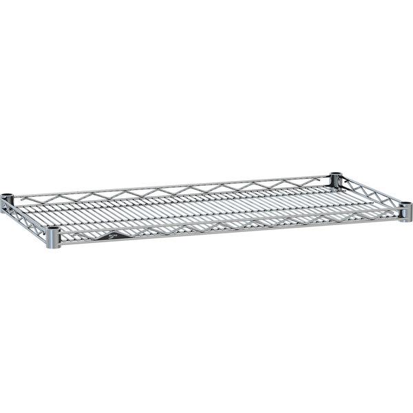 "Metro HDM1436NC Super Erecta Chrome Drop Mat Wire Shelf - 14"" x 36"""