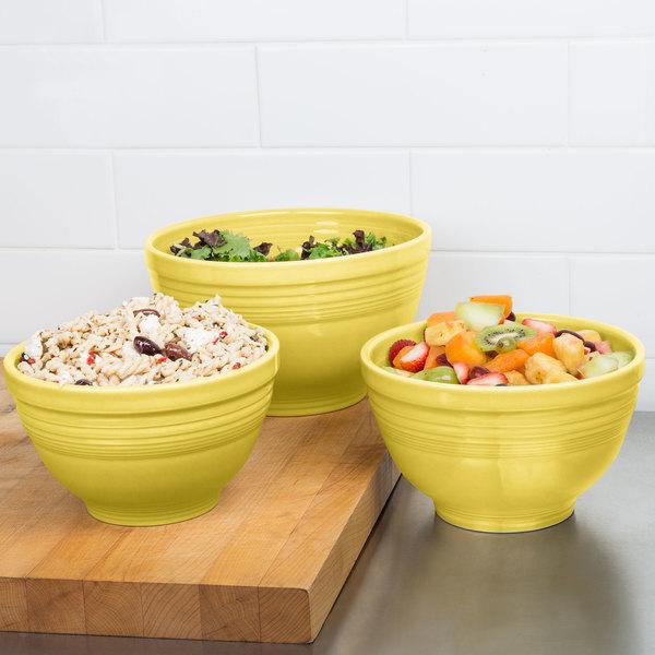 Homer Laughlin 967320 Fiesta Sunflower 3-Piece Prep Baking Bowl Set ...