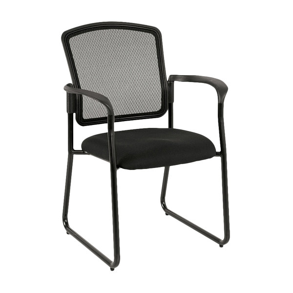 eurotech 7055sb black dakota2 series black mesh office side chair