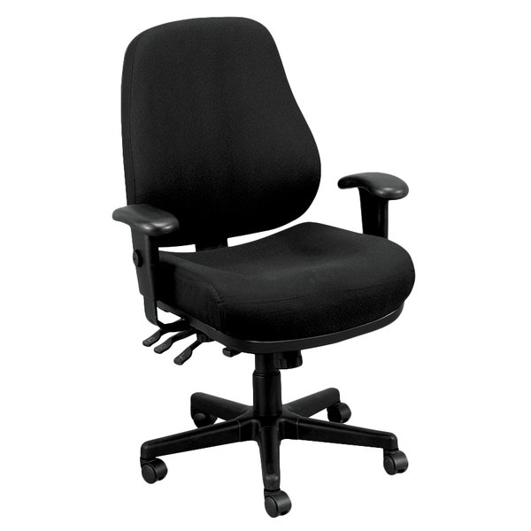 Eurotech 24/7-5806 24/7 Series Dove Black Fabric Mid Back Swivel ...