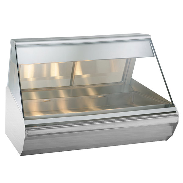 "Alto-Shaam EC2-48 S/S Stainless Steel Heated Display Case with Angled Glass - Full Service 48"" Main Image 1"