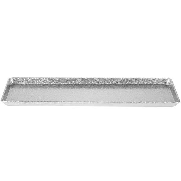 "Chicago Metallic 40927 Silver 9"" x 26"" Customizable Bakery Display Tray"