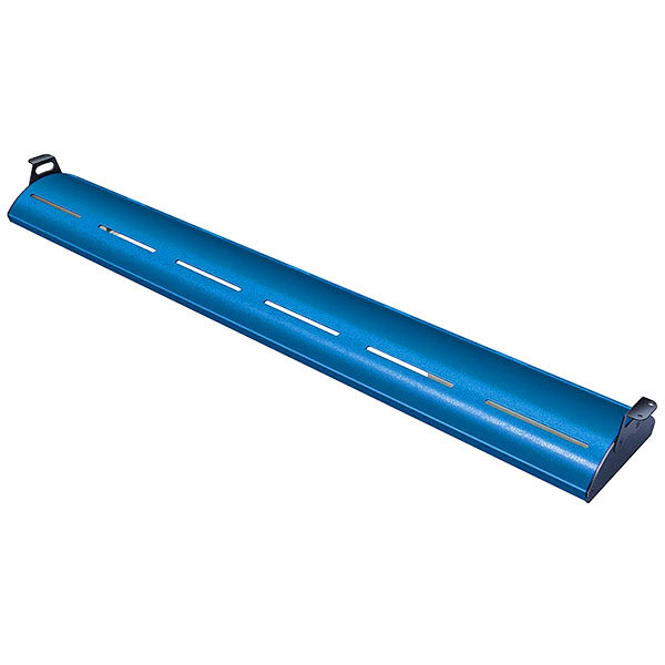 "Hatco HL5-18 Glo-Rite 18"" Brilliant Blue Curved Display Light with Warm Lighting - 4.3W, 120V"