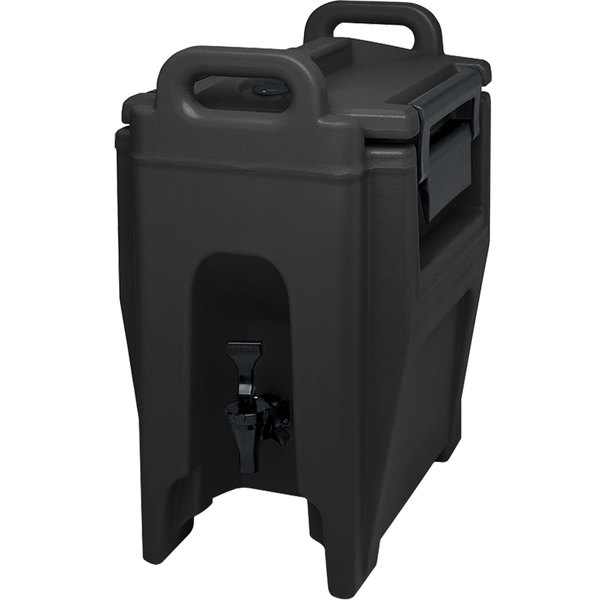 Cambro UC250110 Ultra Camtainer 2.75 Gallon Black Insulated Beverage Dispenser