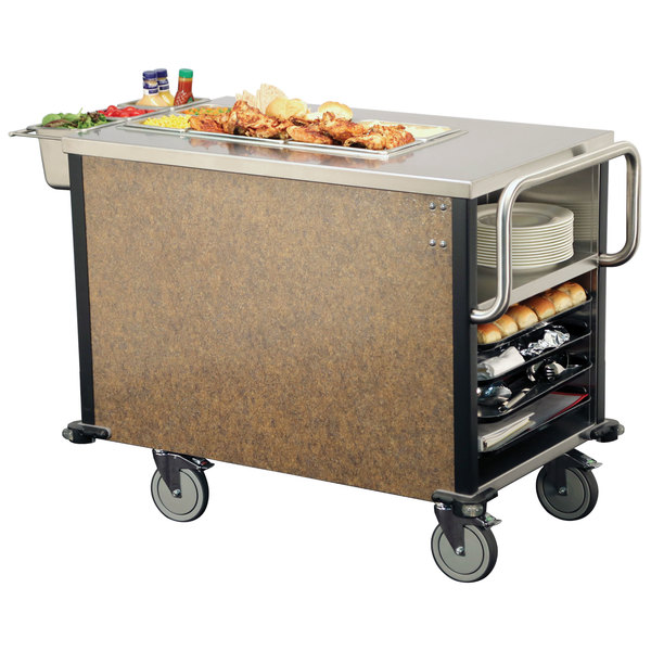 Lakeside 6754SM SuzyQ Sepia Mineral Dining Room Meal Serving System with One Heated Well - 120V Main Image 1