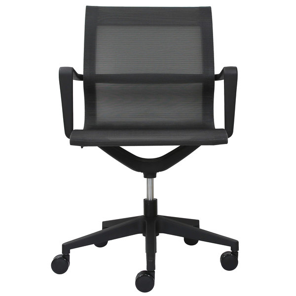 ... Swivel Office Chair. Main Picture  sc 1 st  WebstaurantStore & Eurotech MT301A Kinetic Series Black Mid Back Swivel Office Chair