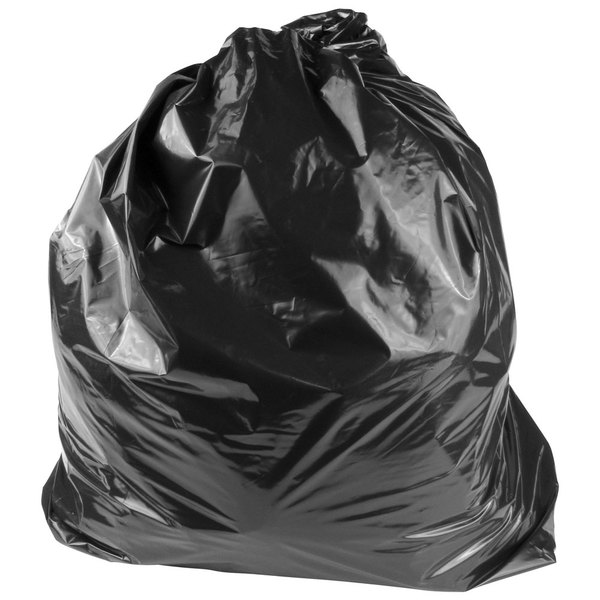 "Lavex Industrial Contractor Trash Bag 80 Gallon 2.5 Mil 56"" x 60"" Low Density Can Liner - 50/Case"