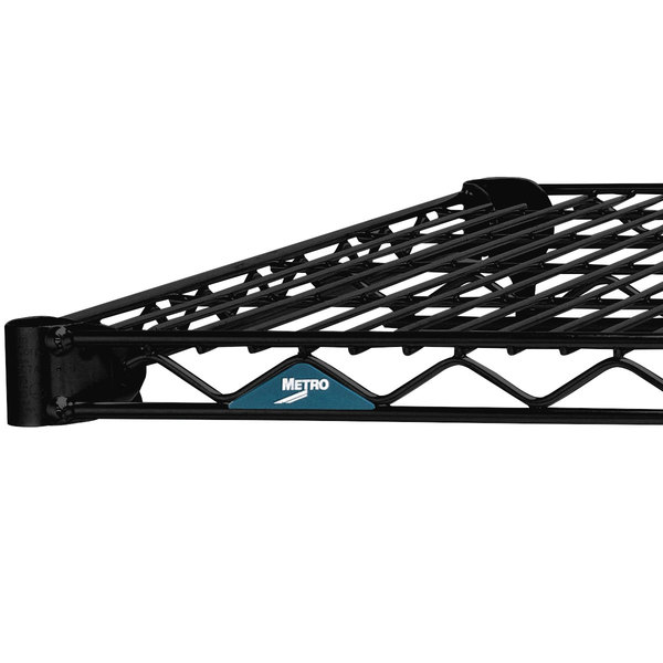 "Metro 2424NBL Super Erecta Black Wire Shelf - 24"" x 24"""