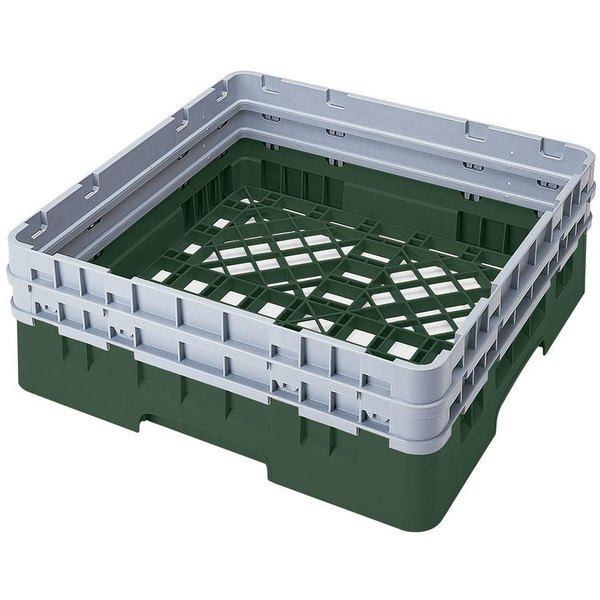 Cambro BR578119 Sherwood Green Camrack Full Size Open Base Rack with 2 Extenders