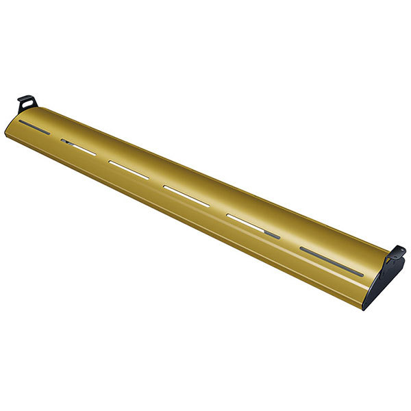 """Hatco HL5-48 Glo-Rite 48"""" Gleaming Gold Curved Display Light with Warm Lighting - 12.4W, 120V"""