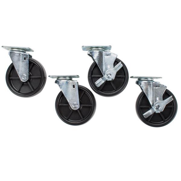 "Avantco CASTER 5"" Casters for Avantco FF300, FF400, FF500, FF518 and Frymaster / Dean Floor Fryers - 4/Set Main Image 1"