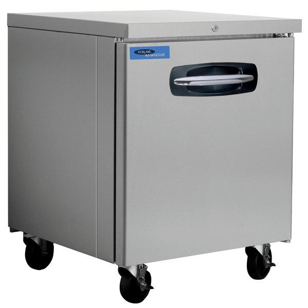 "Nor-Lake NLUR27A-015 AdvantEDGE 27 1/2"" Undercounter Refrigerator with Door Lock - 7.2 Cu. Ft."