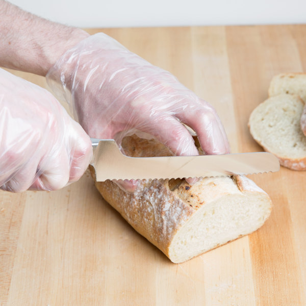 """8"""" Serrated Offset Bread Knife with Black POM Handle"""