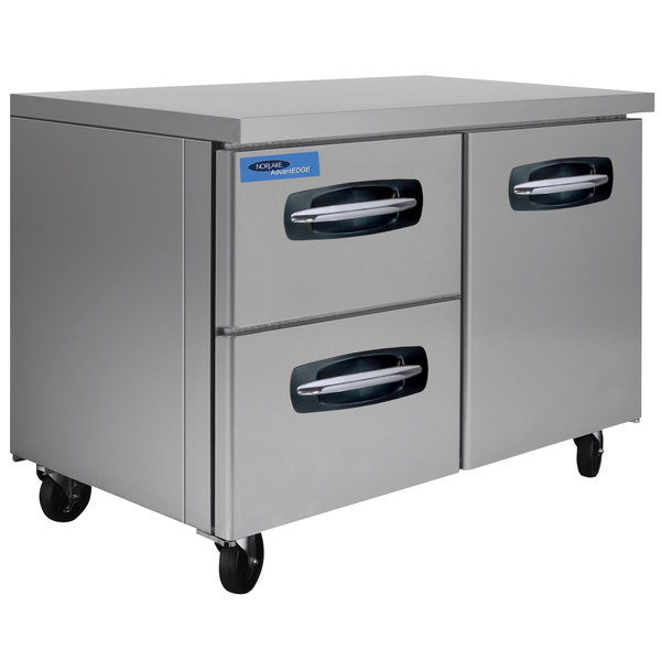 """Nor-Lake NLUR48A-003 AdvantEDGE 48"""" Undercounter Refrigerator with 1 Door and 2 Left Side Drawers"""
