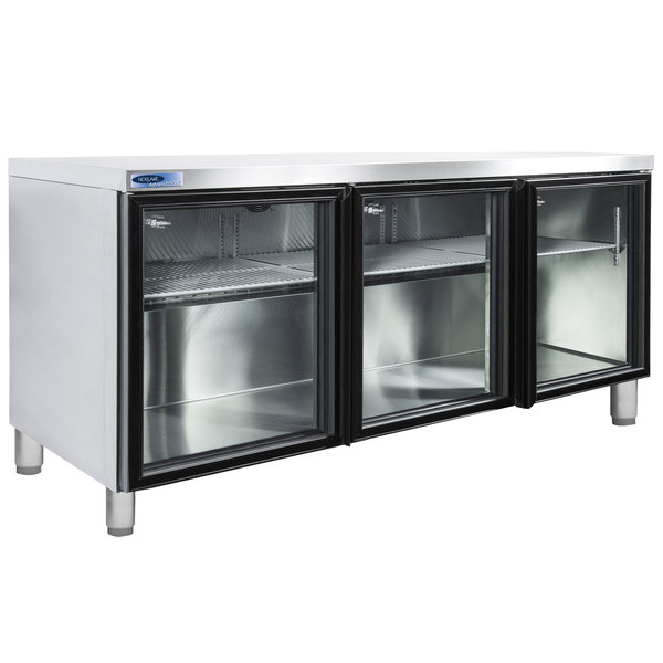 """Nor-Lake NLURG72A-013 AdvantEDGE 72"""" Undercounter Refrigerator with 6"""" Legs and Glass Doors"""