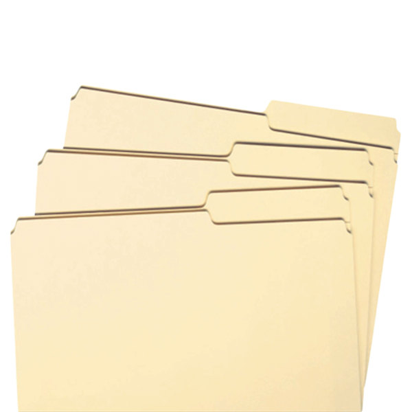 Smead Guide Height File Folders 2//5 Cut Right Top Tab Letter Manila 100//Box