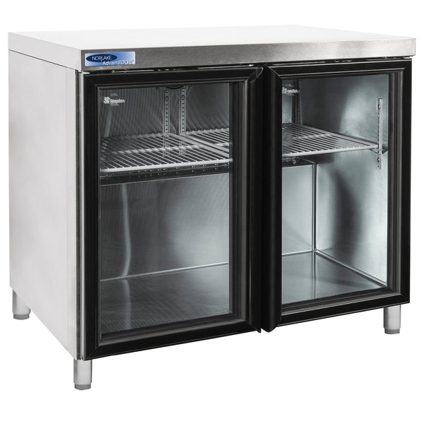 """Nor-Lake NLURG36A-013 AdvantEDGE 36"""" Undercounter Refrigerator with 6"""" Legs and Glass Doors"""
