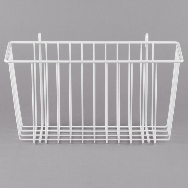 Metro H209W White Storage Basket for Wire Shelving 13 3/8\