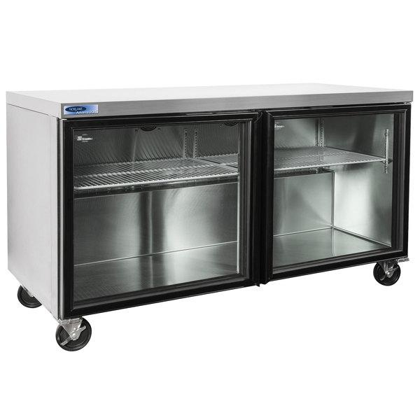 "Nor-Lake NLURG60A AdvantEDGE 60"" Undercounter Refrigerator with Glass Doors"