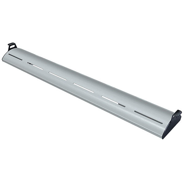 """Hatco HL5-72 Glo-Rite 72"""" Glossy Gray Curved Display Light with Warm Lighting - 18.9W, 120V"""