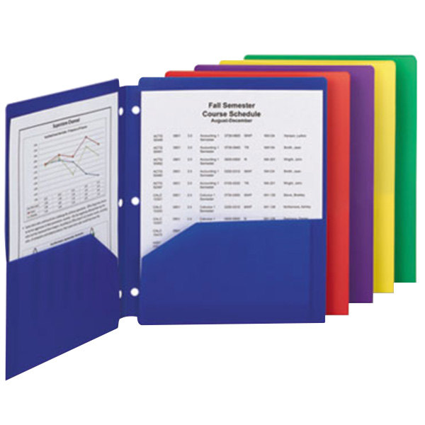 Smead 87939 Letter Size 2-Pocket Poly Pocket Folder