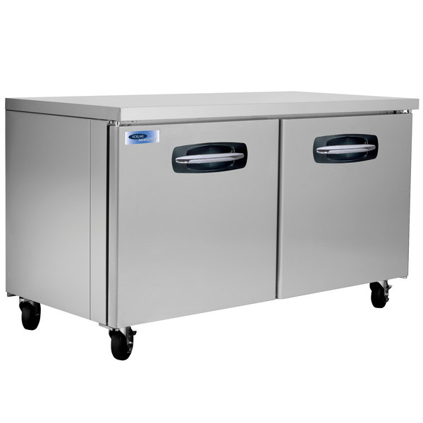"Nor-Lake NLUR60A AdvantEDGE 60"" Undercounter Refrigerator - 16.2 Cu. Ft. Main Image 1"