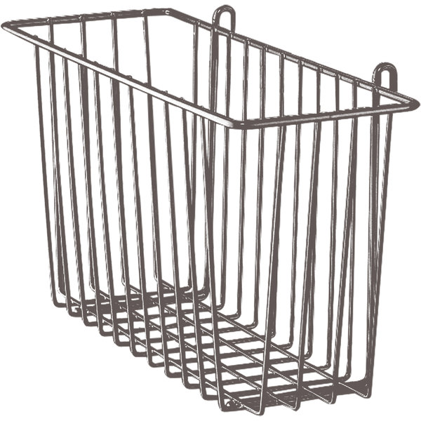 """Metro H212-DCH Copper Hammertone Storage Basket for Wire Shelving 17 3/8"""" x 7 1/2"""" x 10"""""""