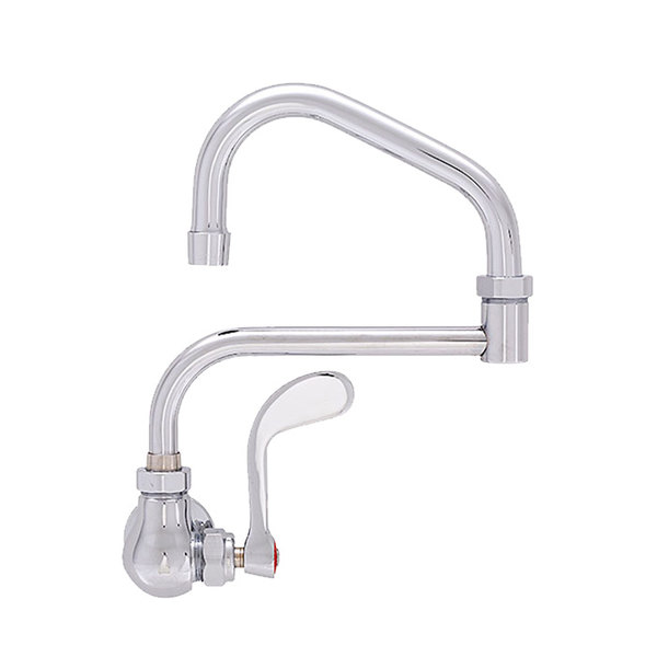 """Fisher 48542 Wall Mounted Faucet with 15"""" Double-Jointed Swing Nozzle, 2.2 GPM Aerator, and Wrist Handle"""