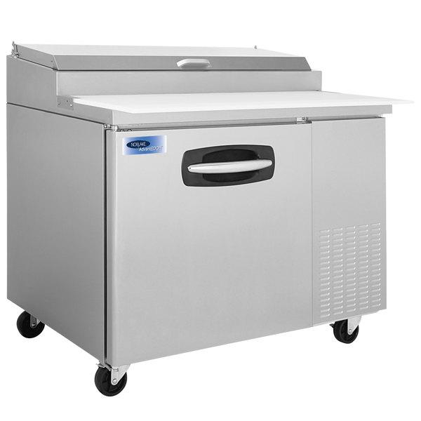 "Nor-Lake NLPT44 AdvantEDGE 44 1/2"" 1 Door Refrigerated Pizza Prep Table"