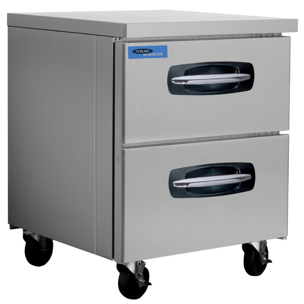 """Nor-Lake NLUR27A-001 AdvantEDGE 27 1/2"""" Undercounter Refrigerator with 2 Drawers Main Image 1"""
