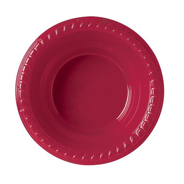 Dart Solo PSB2R-0099 Plastic Party Bowl Red 12 oz. - 500/Case