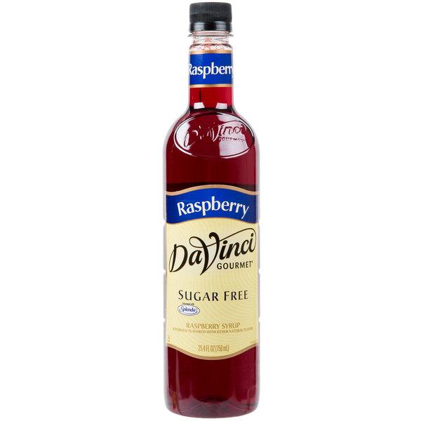DaVinci Gourmet 750 mL Sugar Free Raspberry Flavoring / Fruit Syrup
