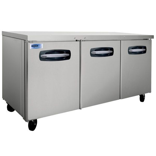 "Nor-Lake NLUR72A-015 AdvantEDGE 72"" Undercounter Refrigerator with Door Locks - 20.5 Cu. Ft."