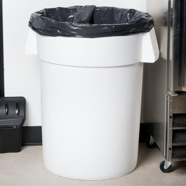 Carlisle 34104402 Bronco 44 Gallon White Trash Can