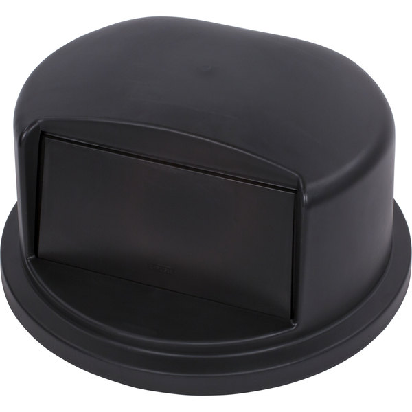 Carlisle 34103403 Bronco 32 Gallon Black Dome Trash Can Lid with Hinged Door