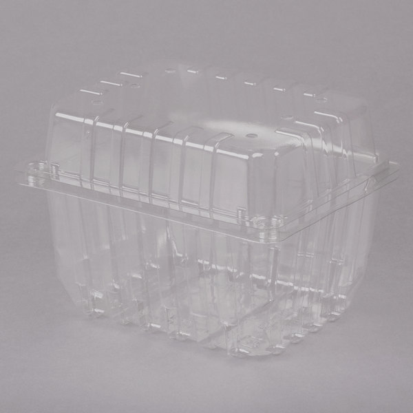 1 Qt. Vented Clamshell Produce / Berry Container - 300/Case