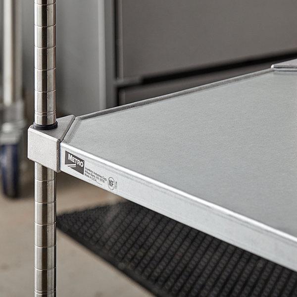 "Metro 1824FG 18"" x 24"" 18 Gauge Flat Galvanized Solid Shelf Main Image 4"