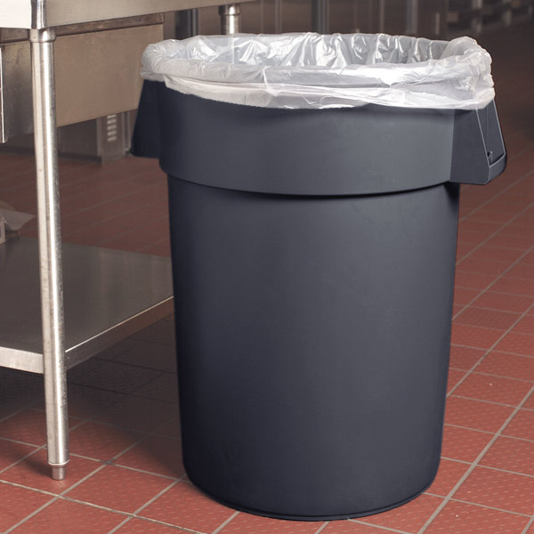 Carlisle 34104423 Bronco 44 Gallon Gray Trash Can