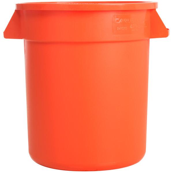 Main Picture  sc 1 st  WebstaurantStore & Carlisle 34101024 Bronco 10 Gallon Orange Trash Can