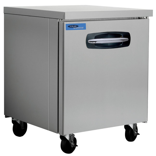 "Nor-Lake NLUF27A-014 AdvantEDGE 27 1/2"" Undercounter Freezer with Low Profile Casters - 7.2 Cu. Ft."