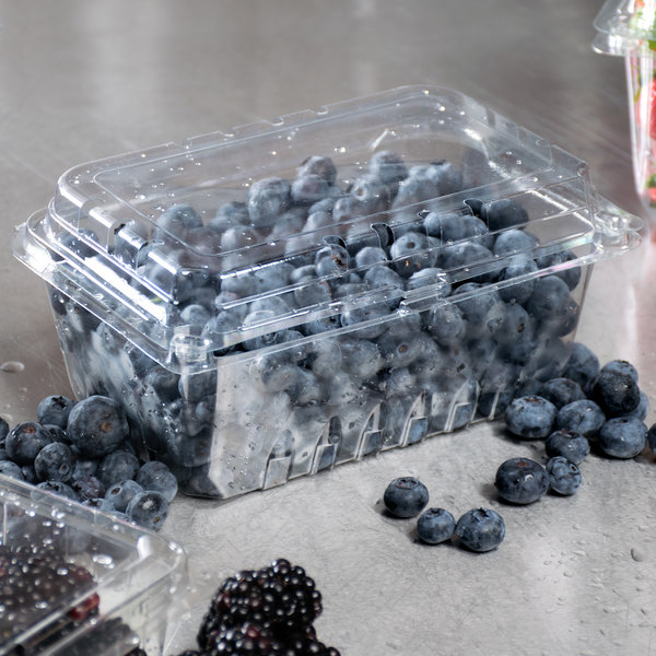 1 lb. Vented Clamshell Produce / Berry Container - 352/Case