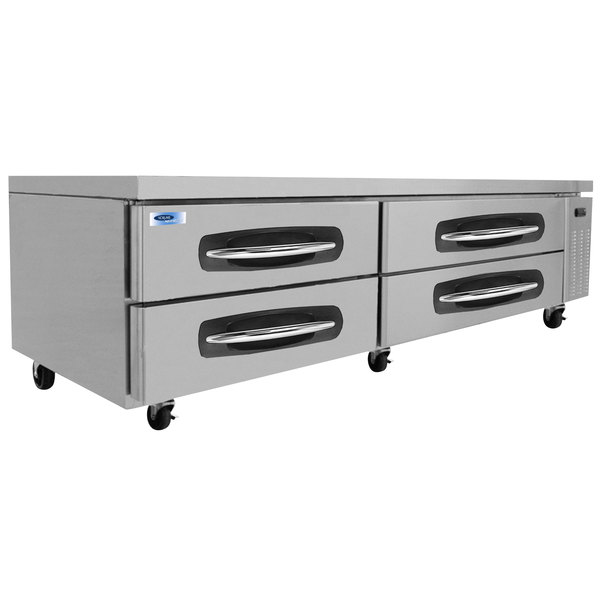 "Nor-Lake NLCB84 AdvantEDGE 84"" 4 Drawer Refrigerated Chef Base"