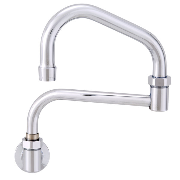 """Fisher 46752 Backsplash Mounted Faucet with 19"""" Double-Jointed Swing Nozzle and 2.2 GPM Aerator"""
