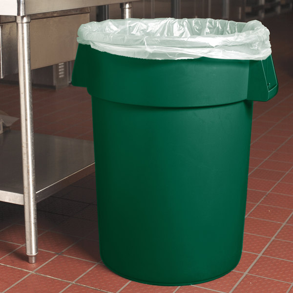 Carlisle 34104409 Bronco 44 Gallon Green Trash Can